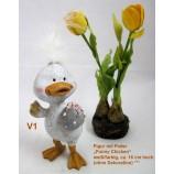 Deko-Figur Mann mit Feder Funny Chicken ca. 16 cm V1