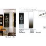 Schiebevorhang Digitaldruck Buddha Grau, ca. 60 x 245 cm