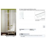Schiebevorhang Fellosa weiß, ca. 60 x 245 cm