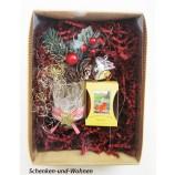"""Geschenke-Box  """"Teelicht - Set"""" weihnachtlich dekoriert und sortiert"""