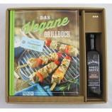 Geschenkbox mit Veganem Grillbuch incl. BBQ-Soße