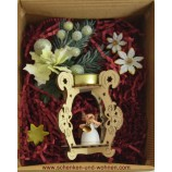 "Geschenke-Box  "" Laserholz-Teelichthalter Engelfigur"" sortiert."