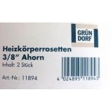 Heizkörper Rosetten 3/8 Zoll Ahorn Holz 20 mm 2 Stück