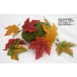 Herbst Blätter 20 Stück rot, orange, grün ca. 10x9 cm (H/B)