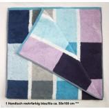1 Handtuch mehrfarbig blau/lila ca. 50x100 cm
