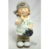 Deko-Figur Junge mit Gießkanne ca. 23 cm