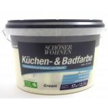 Küchen- und Badfarbe cream matt 2,5 l Schöner Wohnen
