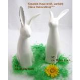 1 Keramik Hase weiß, sortiert ca. 28 cm/ 30 cm
