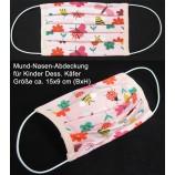 Mund-Nasen-Abdeckung für Kinder aus 100 % Baumwolle Dess. Käfer
