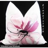 Kissenhülle im Blumendessign Beere, ca. 40 x 40 cm
