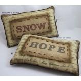 1 Kissen gefüllt mit Schriftzug HOPE ca. 28 x 44 cm