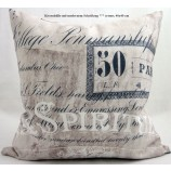 Kissenhülle mit modernem Schriftdruck ca. 40 x 40 cm creme