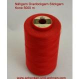 Nähgarn, Overlockgarn Stickgarn 120 Kone 5000 m Fb. 8230 rot
