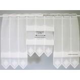 8 cm breites Raffpanneaux Clippanneaux ecru`, ca. 60 cm hoch (incl. 2 Haken )