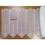 1 Teil Kurzgardine - Panneaux ecru ca. 16x55 cm (H/B)