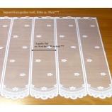 1 Teil / Lamelle Kurzgardine mit Stangendurchzug weiß 14,0 x 90,0 cm (B/H)