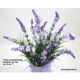 1 Deko-Lavendelzweig, künstlich, lila hell ca. 33 cm