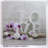 "LED Bild ""Love"" Orchidee ca.40x40 cm"