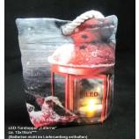 """Weihnachtlicher LED-Türstopper """"Laterne"""" mit 1LED ca. 15 x 18 cm"""