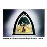 """Lichterspitze LED  """"Bergkapelle"""" 52 x 53,5 x 9 cm (L/H/T)"""