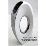 "Moderne Lochvase""Kira"" oval weiß/silber ca. 6 x 16 x 29,5 cm (T/B/H)"