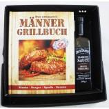 Männer-Grillbuch-Set incl. 260 g BBQ Sauce im Geschenkkarton