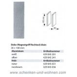 Magnetgriff für Flächenvorhänge Rechteck 30x100 mm