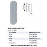 Magnetgriff für Flächenvorhänge Oval 30x100 mm