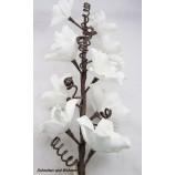 Kunststoffblüte - Magnolienzweig geschäumt,  Weiß ca. 105 cm