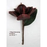 1 Magnolienzweig geschäumt, künstlich bordeaux, ca. 25 cm