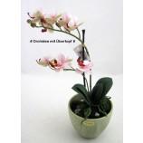 Orchidee Phalaenopsis auf Sandsockel / im Übertopf - Kunstblüte rosa  ca.31 cm