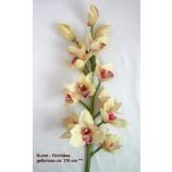 1 Kunst - Orchidee Phalaenopsis gelb/rosa ca. 110 cm Kunstblume