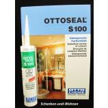 Sanitär-Silikon OTTOSEAL S100 Steingrau, Kartusche 300 ml