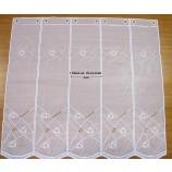 1 Stück Kurzgardine ca. 16 cm breit - Panneaux mit Stickerei, weiß ca. 60 cm