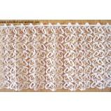 Kurzgardine - Panneaux mit Macrameespitze Weiß, 45 cm