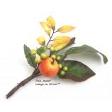 """Künstlicher Herbst-Deko-Pick """"Apfel"""" Herbstfarben ca. 20 cm"""
