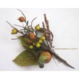 Herbstlicher Zweig 18cm herbstfarben mit Herbstfrüchten und Blättern sortiert