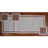 Tischläufer Plauener Spitze, creme/weiß ca.24x55 cm
