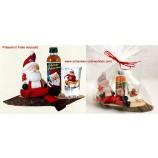 Präsent-Set Weihnachtsmann auf Astscheibe