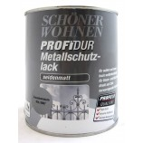 ProfiDur Metallschutzlack - Alkydharzlack, seidenmatt, graualuminium, 750 ml
