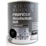 ProfiDur Metallschutzlack - Alkydharzlack, seidenmatt, schwarz, 750 ml