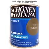 Protect Buntlack 750 ml, 7593 Erdbraun hochglänzend, Alkydharzlack SW