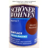 Protect Buntlack 750 ml, RAL 8011 Nussbraun hochglänzend, Alkydharzlack SW