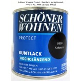 Protect Buntlack 375 ml, Fb.-Nr.: 9900 schwarz hochglänzend, Alkydharzlack SW