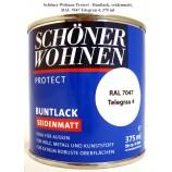 Protect Buntlack - Alkydharzlack, seidenmatt, RAL 7047 Telegrau 4, 375 ml