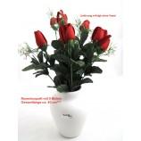 Künstliches Rosenboquette mit 9 Blüten, Gesamtlänge ca. 40 cm
