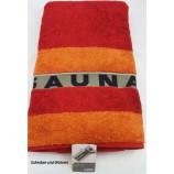 Saunatuch Liegetuch Rot/Orange ca. 80 x 200cm, mit Aufhängeschlaufe