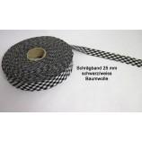 Schrägband 25 mm schwarz-weiß 5 lfdm. Baumwolle