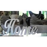 """Schriftzug """" Home """" silber 26 cm"""