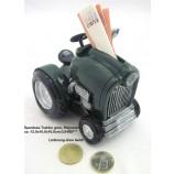 Spardose Traktor Nostalgie, grün/schwarz, ca. 12,0x10,0x10,0cm (L/H/B)